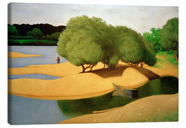 Quadro em tela  Sandbanks on the Loire - Felix Edouard Vallotton