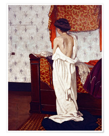 Póster Premium  Getting Dressed - Felix Edouard Vallotton