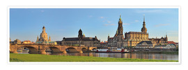 Póster Premium  Dresden Canaletto view - FineArt Panorama