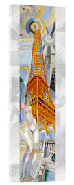 Quadro em acrílico  The woman and the tower - Robert Delaunay