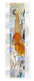 Póster Premium  The woman and the tower - Robert Delaunay