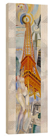 Quadro de madeira  The woman and the tower - Robert Delaunay