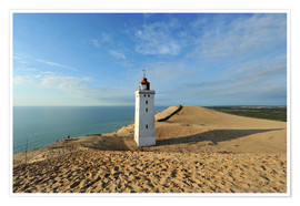 Póster Premium  Lighthouse Rubjerg Knude in Denmark - HADYPHOTO