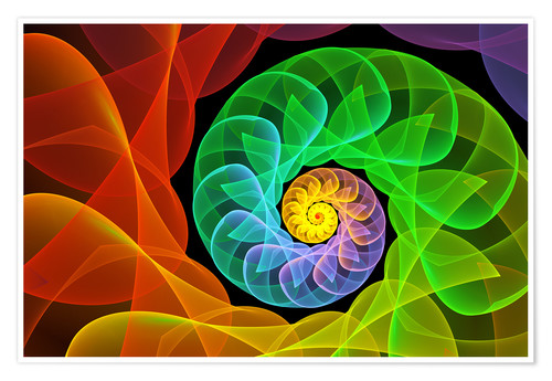 Póster Premium Fractal 'The colors and the light'