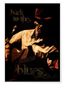 Póster Premium Back to the blues