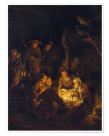 Póster Premium Adoration of the Shepherds. 1646