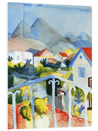 Quadro em PVC  Saint Germain near Tunis - August Macke