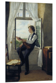 Quadro em PVC  The violinist at the window in 1861 - Otto Franz Scholderer