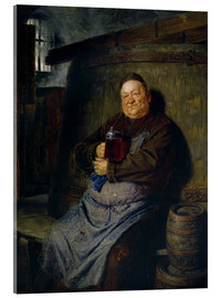 Quadro em acrílico  Brother master brewer of beer in the cellar. In 1902. - Eduard Grützner