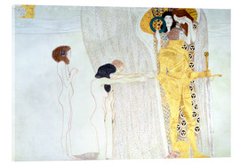 Quadro em acrílico  Beethoven Frieze, desire for the luck - Gustav Klimt