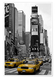 Póster Premium  NEW YORK CITY Times Square - Melanie Viola