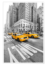 Póster Premium  Yellow Taxi / Cab, New York - Marcus Klepper