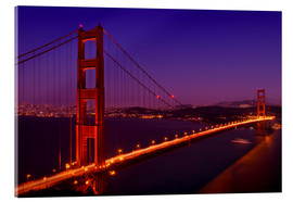 Quadro em acrílico  Golden Gate Bridge by Night - Melanie Viola