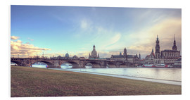 Quadro em PVC  Dresden, as viewed by Canaletto earlier - Steffen Gierok