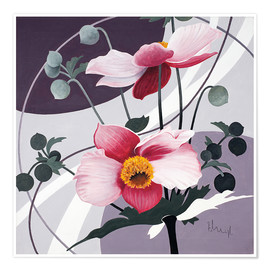 Póster Premium  Swinging blossoms - Franz Heigl