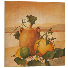 Quadro de madeira  Pumpkins and terracotta - Franz Heigl