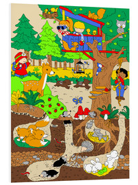 Quadro em PVC  a day in the forest - Fluffy Feelings