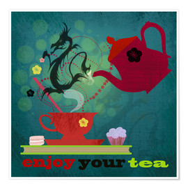 Póster Premium  Enjoy your tea - Elisandra Sevenstar