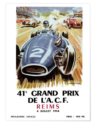Póster Premium grand prix reims