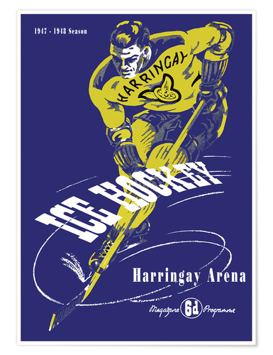 Póster Premium harringay ice hockey