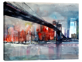 Quadro em tela  New York, Brooklyn Bridge IV - Johann Pickl