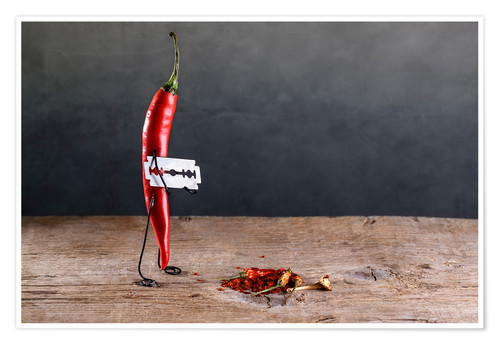 Póster Premium Simple Things - Chili Pepper