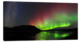 Quadro em tela  Polar Lights, Milky Way and Big Dipper - Joseph Bradley