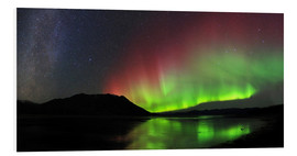 Quadro em PVC  Polar Lights, Milky Way and Big Dipper - Joseph Bradley