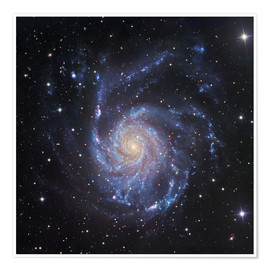 Póster Premium M101, The Pinwheel Galaxy in Ursa Major