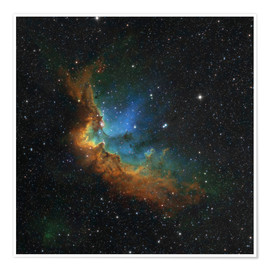 Póster Premium NGC 7380 in the Hubble palette colors
