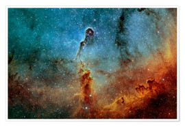 Póster Premium  The Elephant Trunk Nebula - Rolf Geissinger