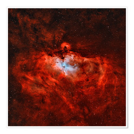 Póster Premium The Eagle Nebula in the constellation Serpens