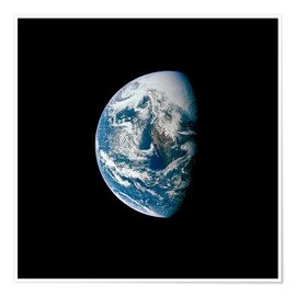 Póster Premium View of the Earth from the spacecraft Apollo 13