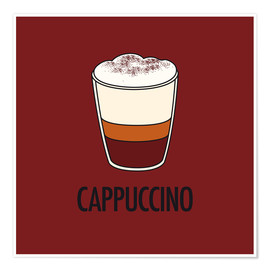 Póster Premium Cappuccino, for the italian lover in you!
