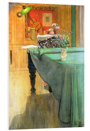 Quadro em PVC  Brita at the Piano - Carl Larsson