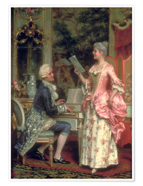 Póster Premium  The Singing Lesson - Arturo Ricci