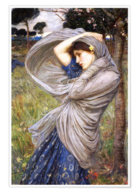 Póster Premium  Bóreas - John William Waterhouse