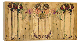 Quadro de madeira  The Wassail - Charles Rennie Mackintosh