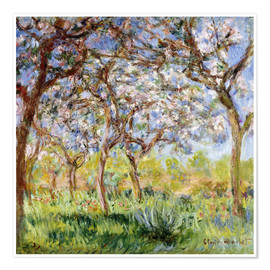 Póster Premium  Spring at Giverny - Claude Monet