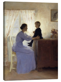 Quadro em tela  Mother and Child - Peter Vilhelm Ilsted