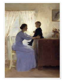 Póster Premium  Mother and Child - Peter Vilhelm Ilsted