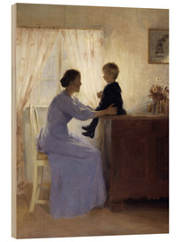 Quadro de madeira  Mother and Child - Peter Vilhelm Ilsted
