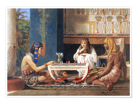 Póster Premium  Egyptian Chess Players - Lawrence Alma-Tadema