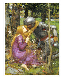 Póster Premium  A study for La Belle Dame sans Merci - John William Waterhouse