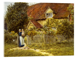 Quadro em acrílico  Mother and child on lodge - Helen Allingham
