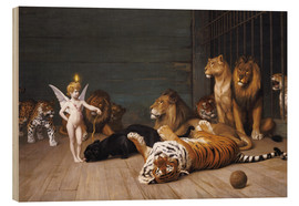 Quadro de madeira  Whoever you are, Here is your Master - Jean Leon Gerome