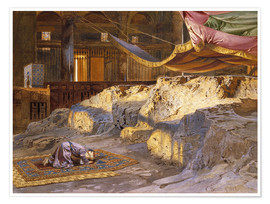 Póster Premium  Inside the Dome of the Rock - Carl Friedrich Heinrich Werner