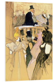 Quadro em PVC  At the Opera Ball - Henri de Toulouse-Lautrec