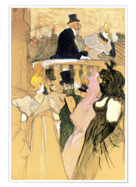 Póster Premium  At the Opera Ball - Henri de Toulouse-Lautrec