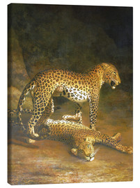 Quadro em tela  Two Leopards lying in the Exeter Exchange - Jacques Laurent Agasse